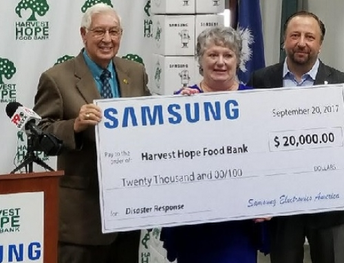 Harvest Hope receives donation from Samsung