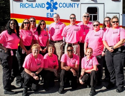 EMS employees support Breast Cancer Awareness Month